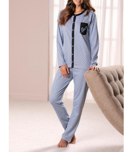 LOVE PIJAMAS BLUE