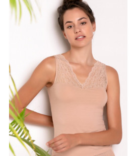 PURITY LACE UNDERSHIRT NUDE