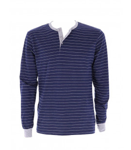 STRIPES MELANGE BLUE