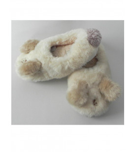 WOMAN BUNNY SLIPPERS BEIGE